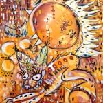 Fox Hunt, oil on canvas